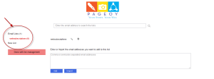 PAGEOY- Managing TheEmailList